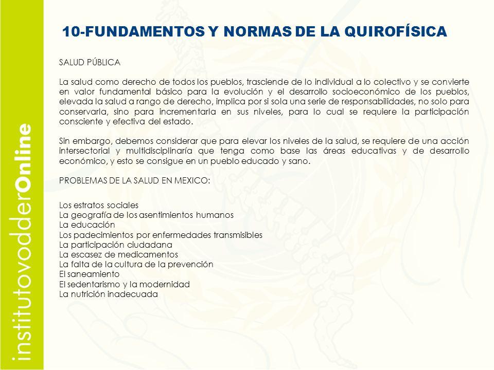 10-FUNDAMENTOS Y NORMAS DE LA QUIROFÍSICA