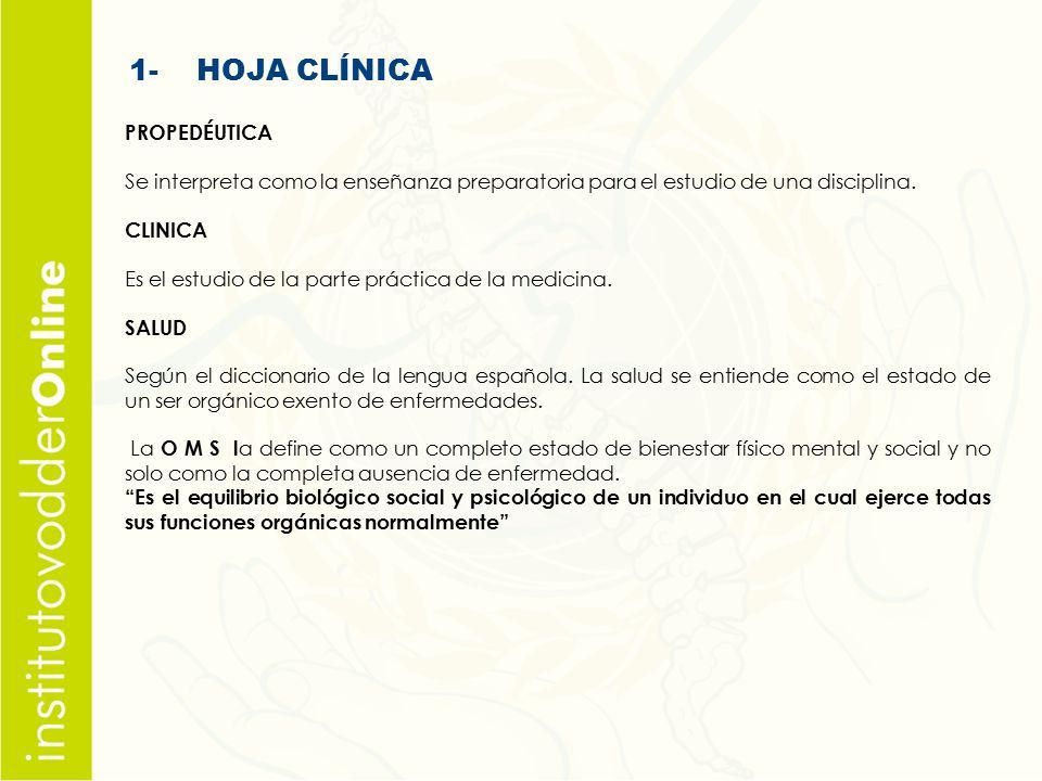 1- HOJA CLÍNICA PROPEDÉUTICA