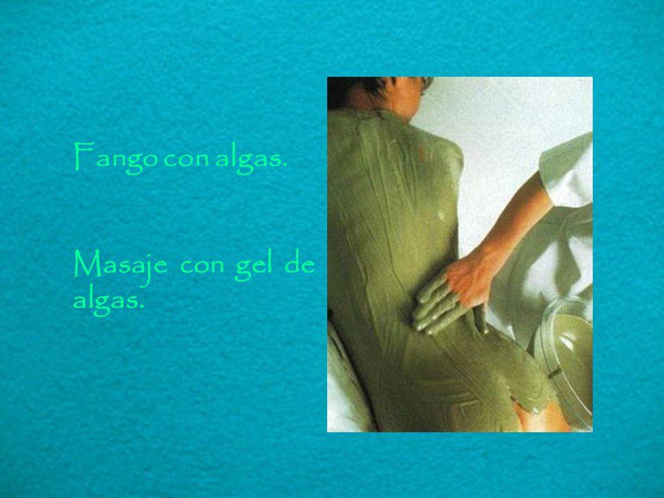 Fango con algas. Masaje con gel de algas.
