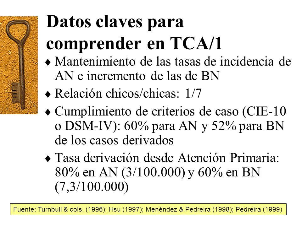 Datos claves para comprender en TCA/1