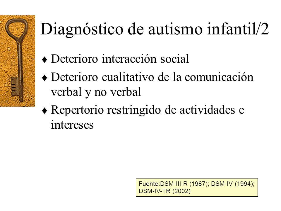 Diagnóstico de autismo infantil/2