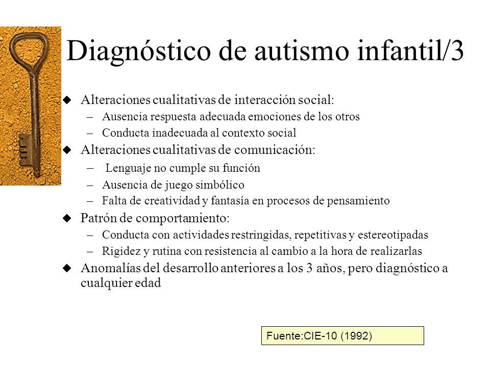 Diagnóstico de autismo infantil/3
