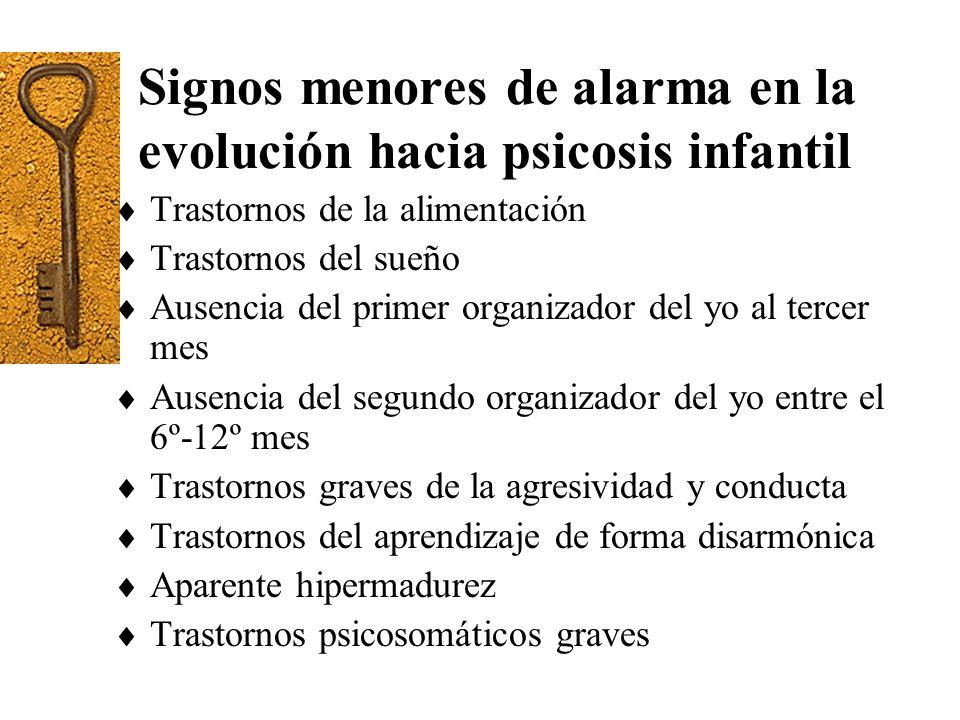 Signos menores de alarma en la evolución hacia psicosis infantil