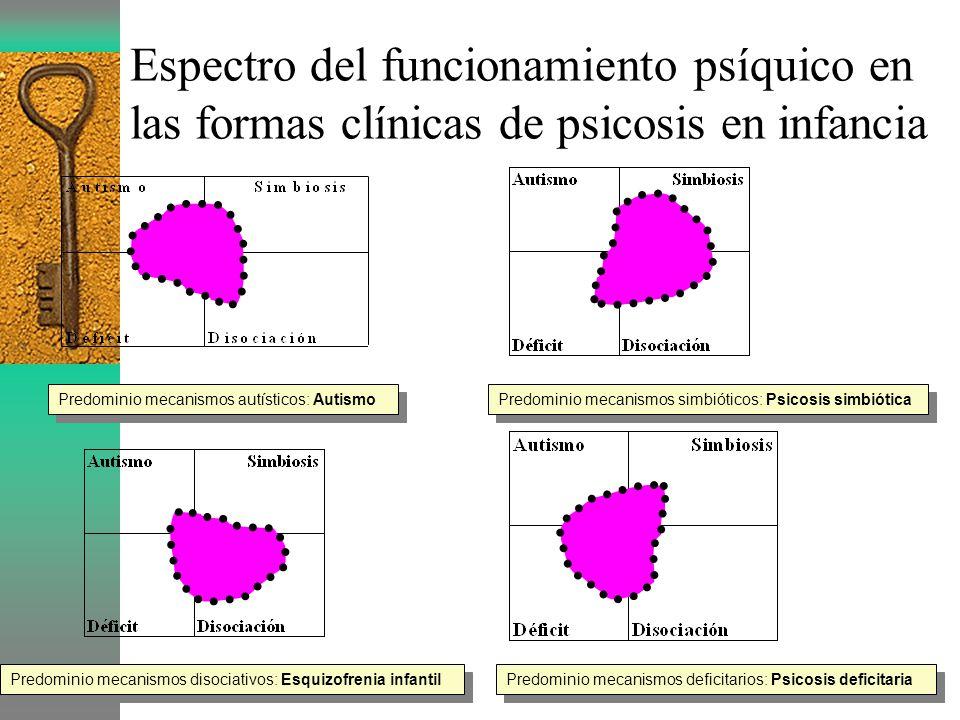 Espectro del funcionamiento psíquico en las formas clínicas de psicosis en infancia
