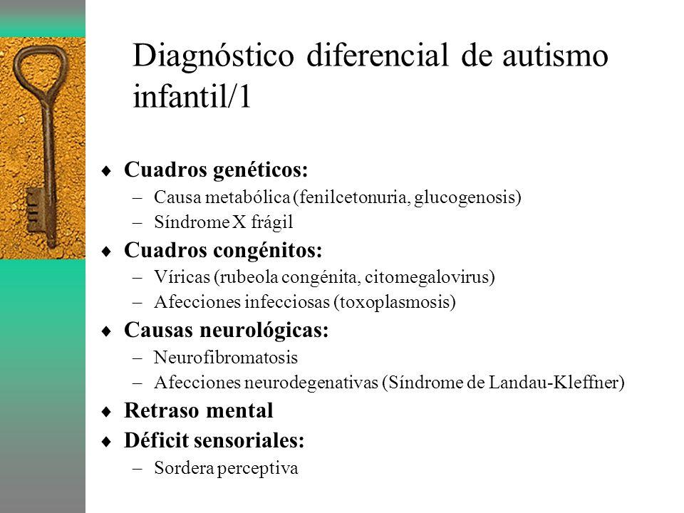 Diagnóstico diferencial de autismo infantil/1