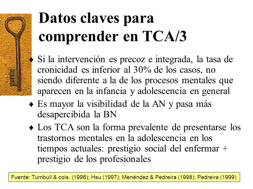 Datos claves para comprender en TCA/3