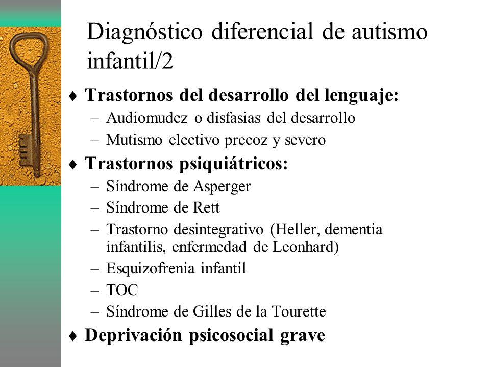 Diagnóstico diferencial de autismo infantil/2