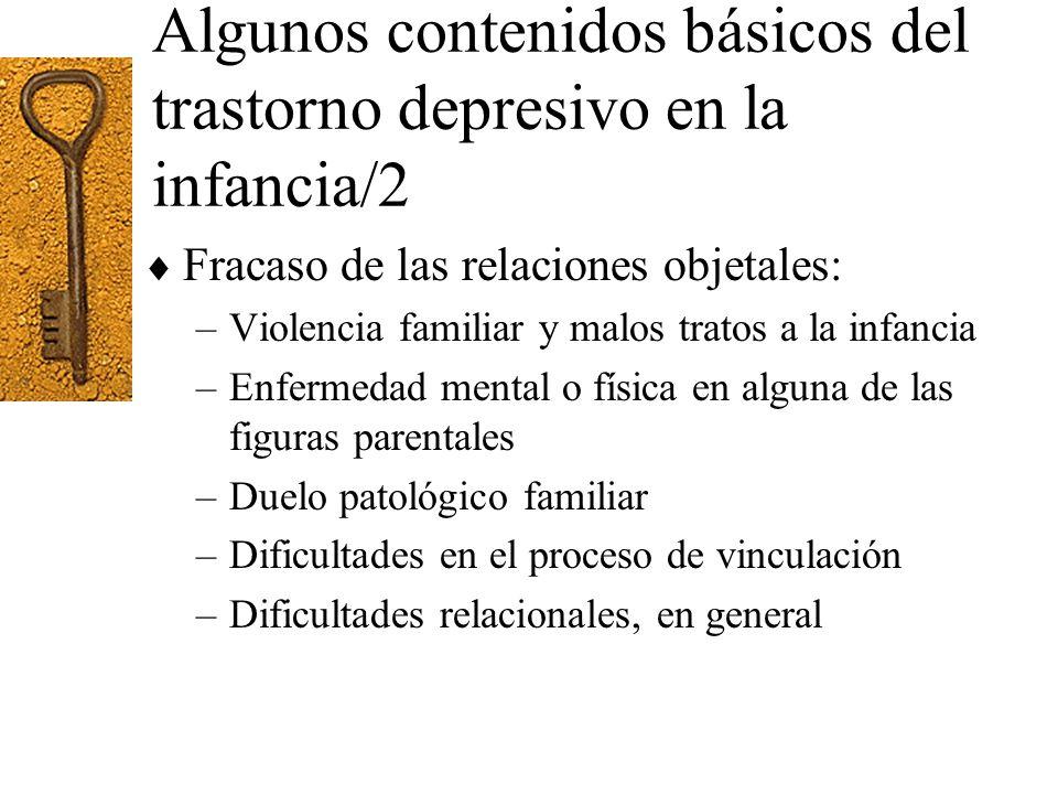 Algunos contenidos básicos del trastorno depresivo en la infancia/2