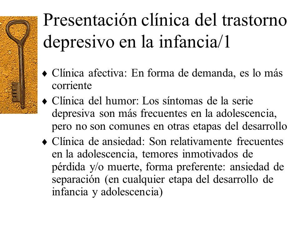 Presentación clínica del trastorno depresivo en la infancia/1