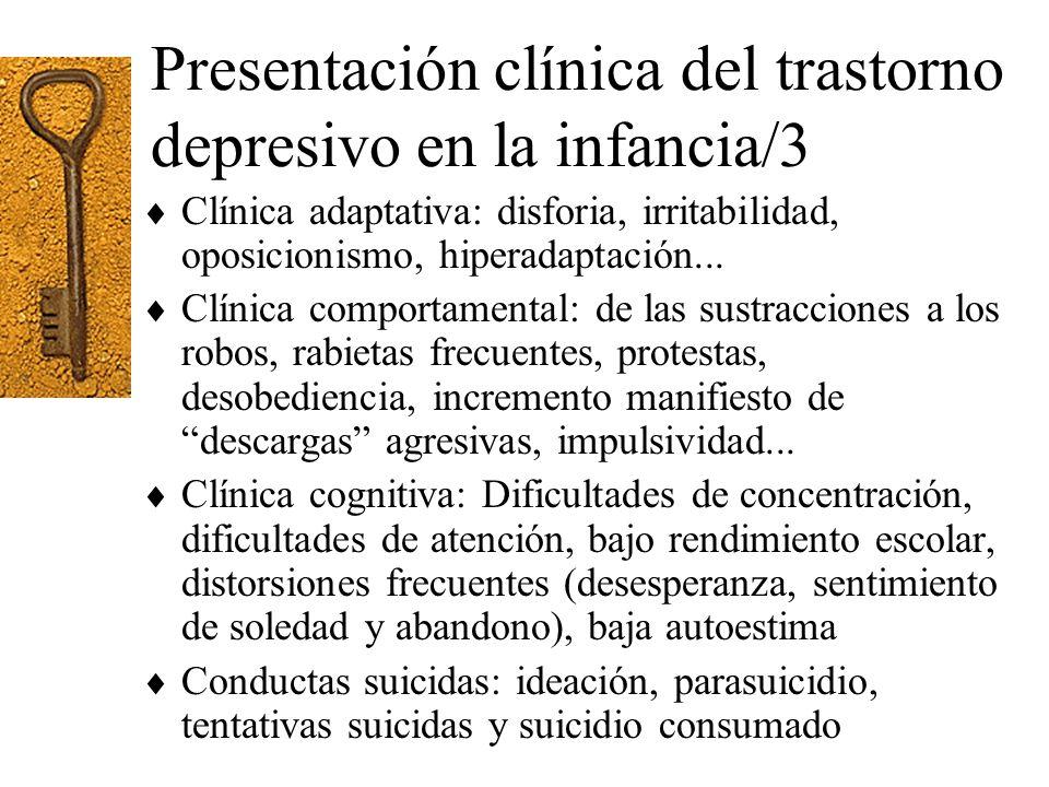 Presentación clínica del trastorno depresivo en la infancia/3