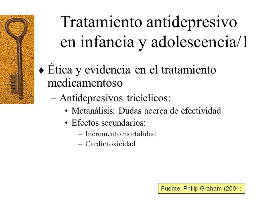 Tratamiento antidepresivo en infancia y adolescencia/1