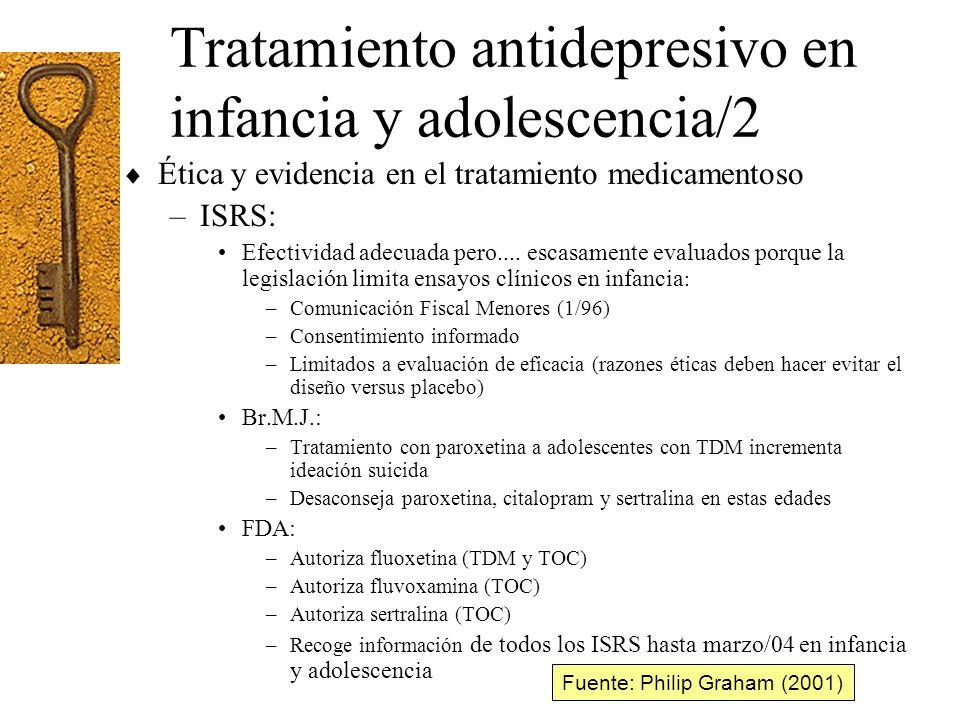 Tratamiento antidepresivo en infancia y adolescencia/2