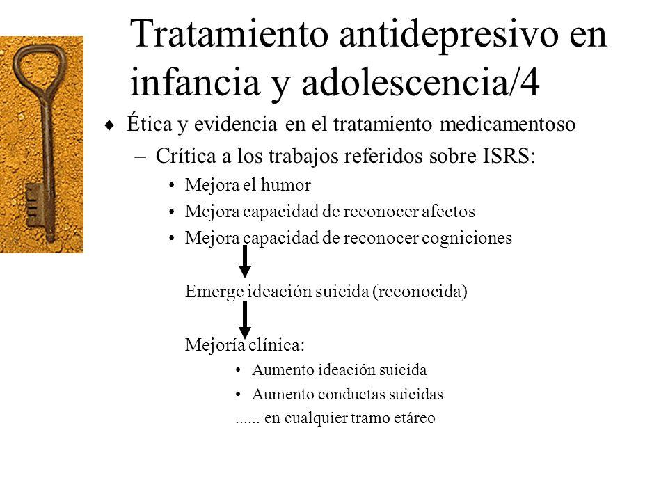 Tratamiento antidepresivo en infancia y adolescencia/4