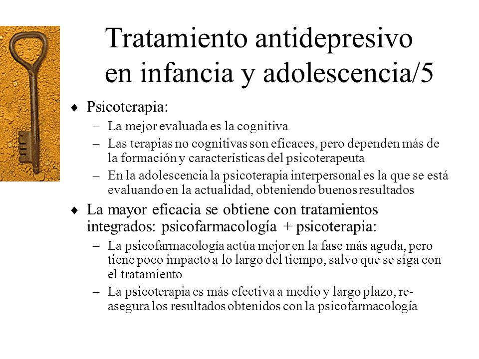 Tratamiento antidepresivo en infancia y adolescencia/5