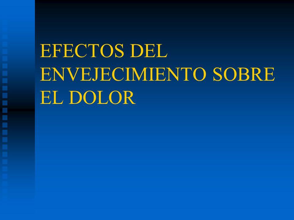 EFECTOS DEL ENVEJECIMIENTO SOBRE EL DOLOR