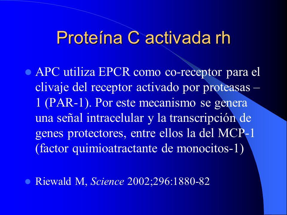 Proteína C activada rh