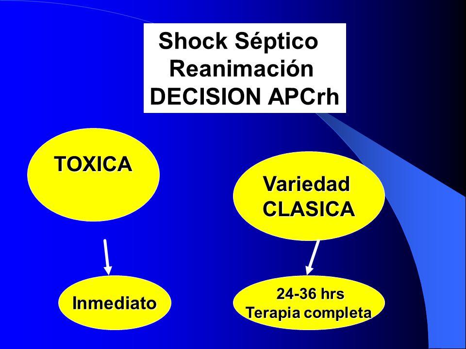 Shock Séptico Reanimación DECISION APCrh