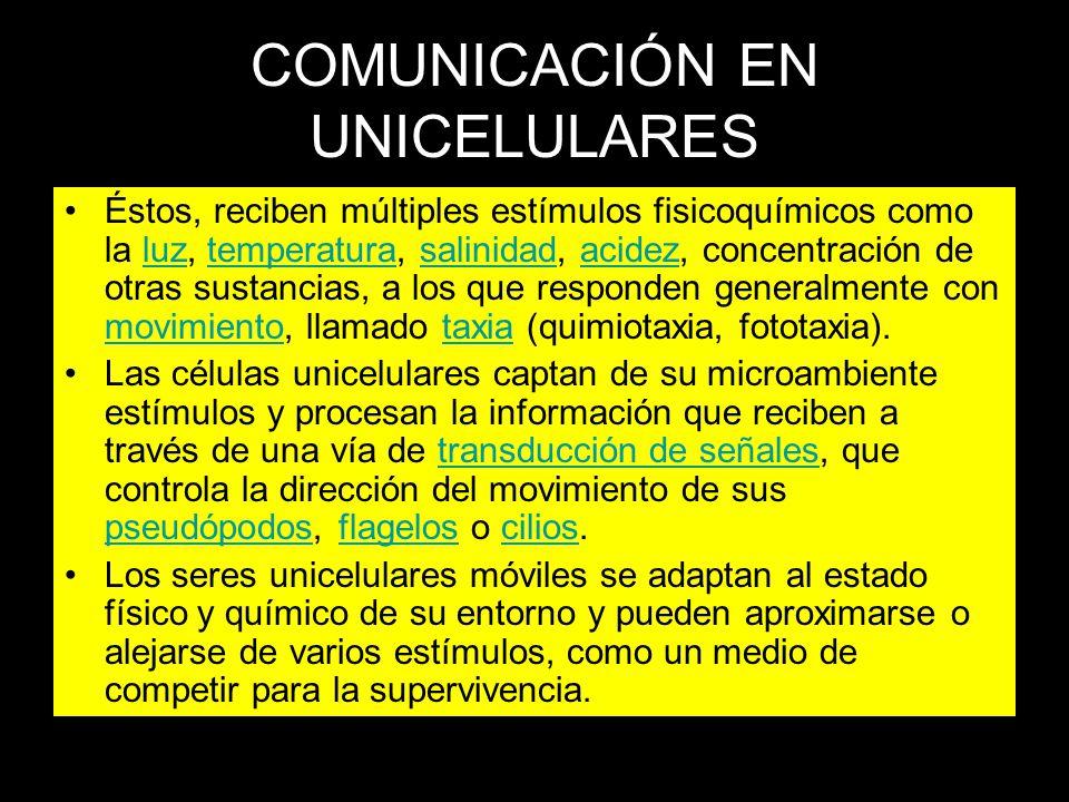 COMUNICACIÓN EN UNICELULARES
