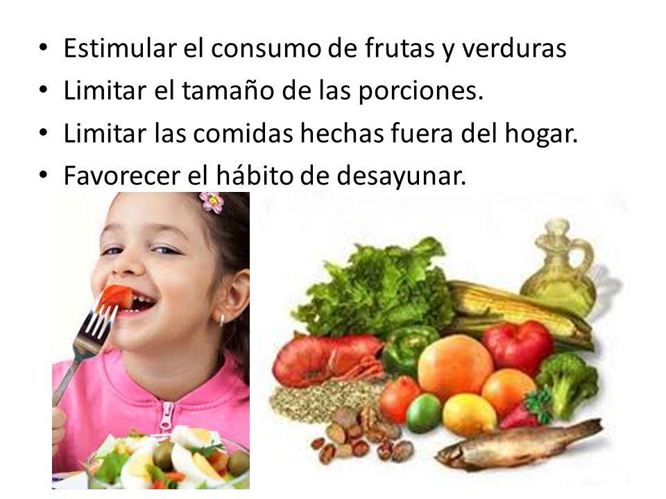 Estimular el consumo de frutas y verduras