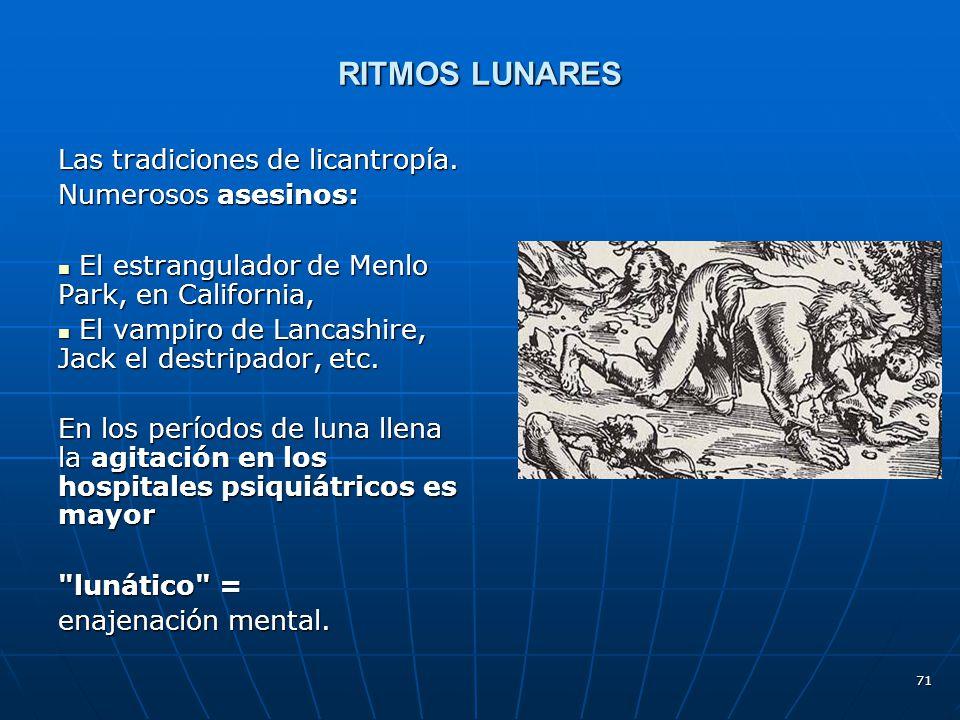 RITMOS LUNARES Las tradiciones de licantropía. Numerosos asesinos: