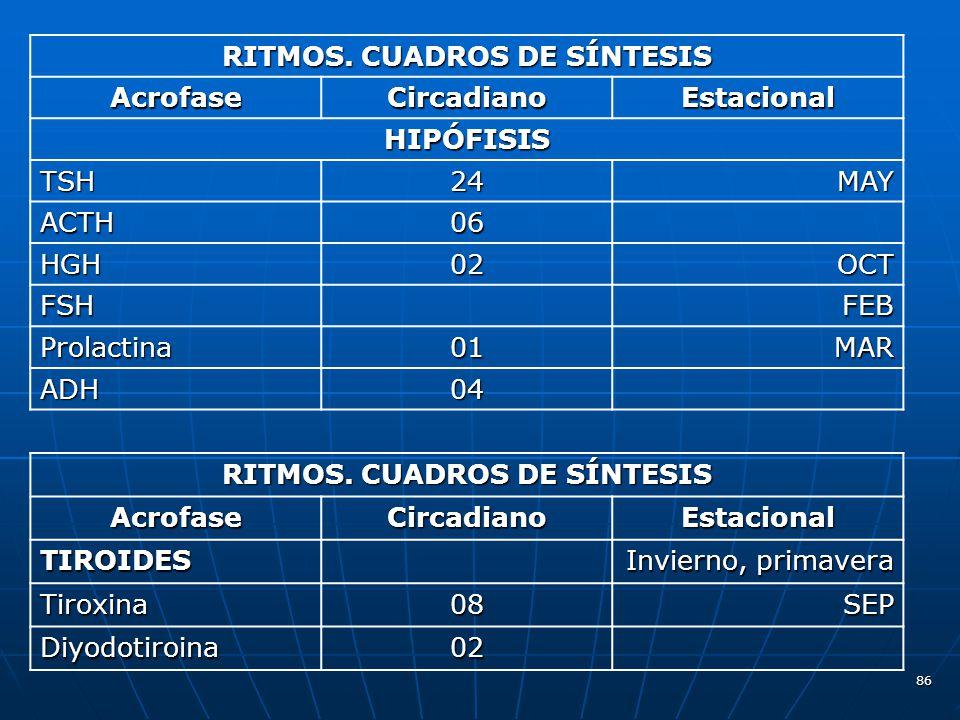 RITMOS. CUADROS DE SÍNTESIS RITMOS. CUADROS DE SÍNTESIS