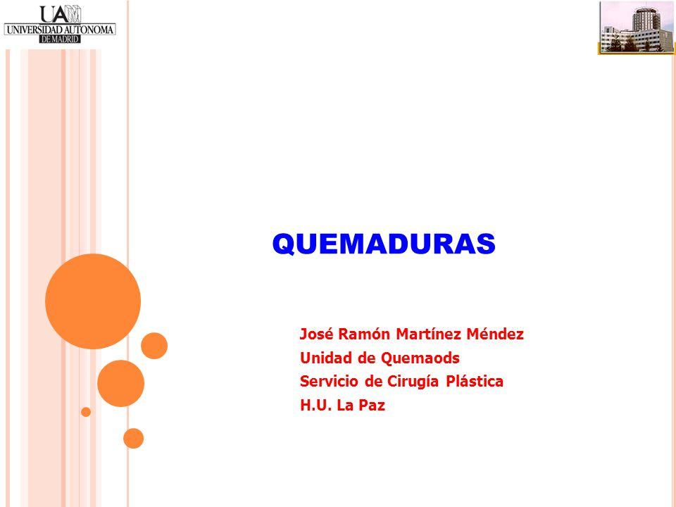 QUEMADURAS José Ramón Martínez Méndez Unidad de Quemaods