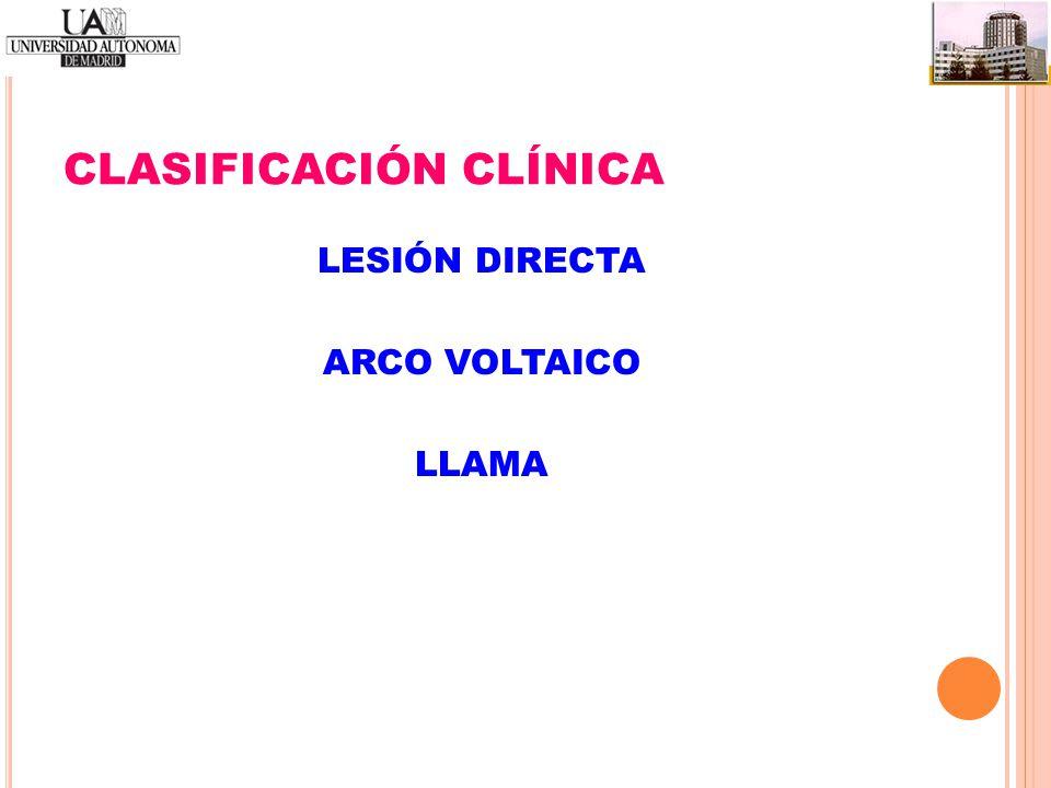 CLASIFICACIÓN CLÍNICA