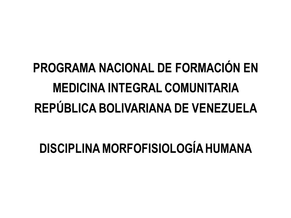 PROGRAMA NACIONAL DE FORMACIÓN EN