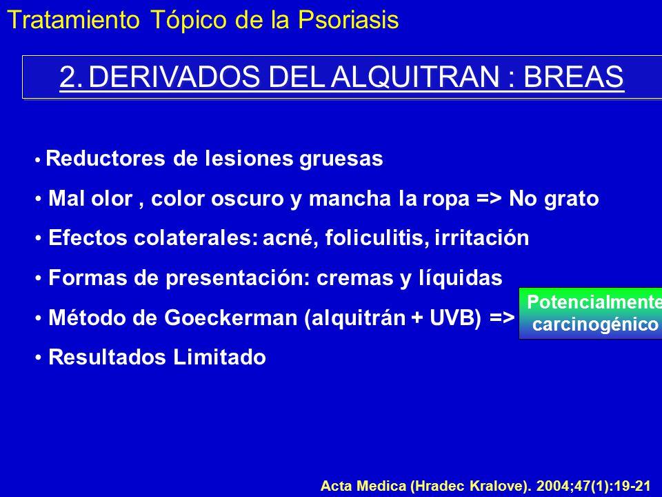 2. DERIVADOS DEL ALQUITRAN : BREAS