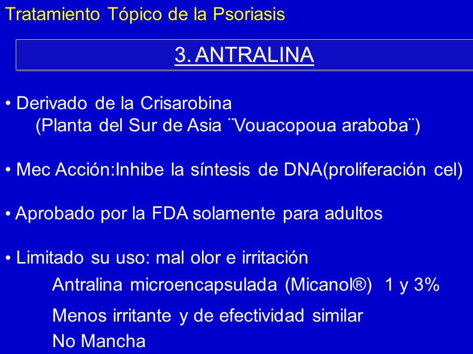 3. ANTRALINA Tratamiento Tópico de la Psoriasis