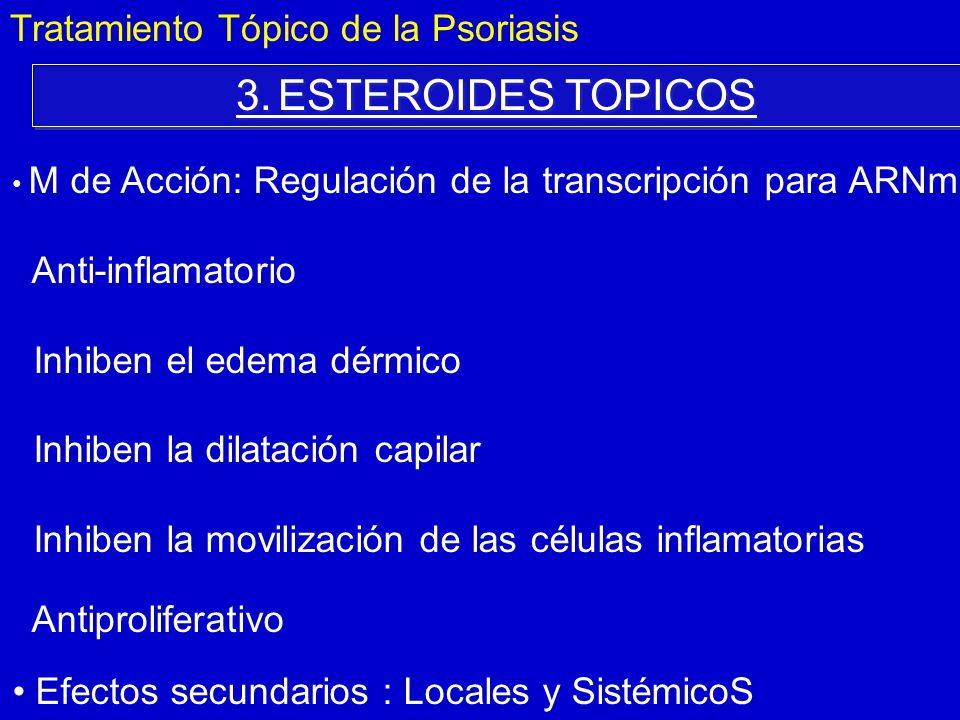 3. ESTEROIDES TOPICOS Tratamiento Tópico de la Psoriasis