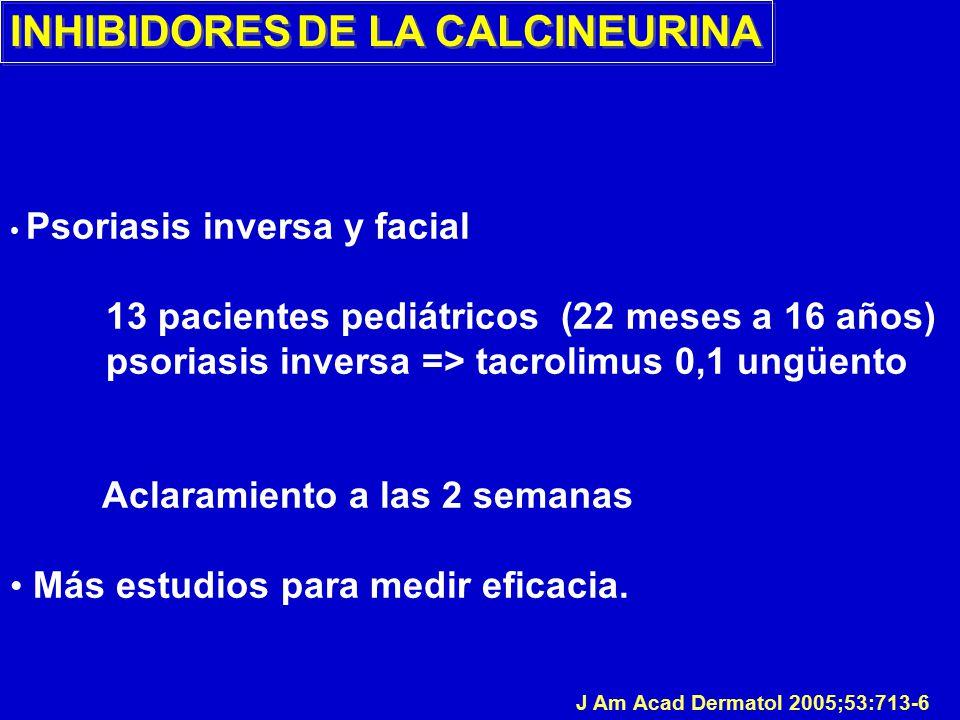 INHIBIDORES DE LA CALCINEURINA