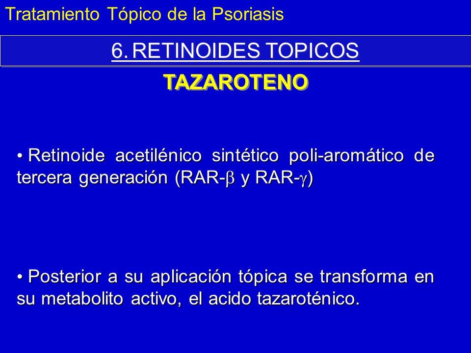 6. RETINOIDES TOPICOS TAZAROTENO Tratamiento Tópico de la Psoriasis