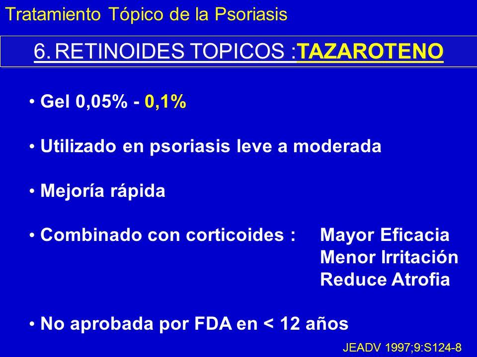 6. RETINOIDES TOPICOS :TAZAROTENO