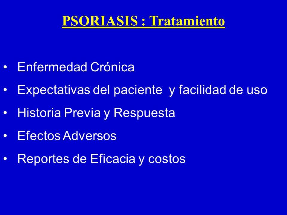 PSORIASIS : Tratamiento