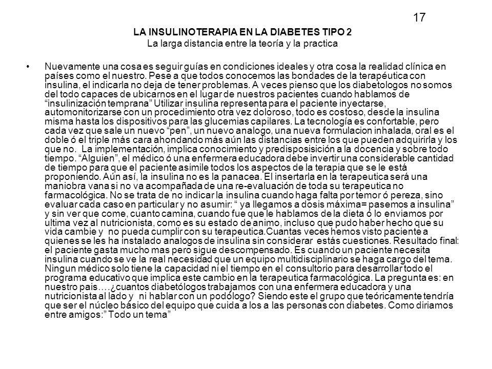LA INSULINOTERAPIA EN LA DIABETES TIPO 2