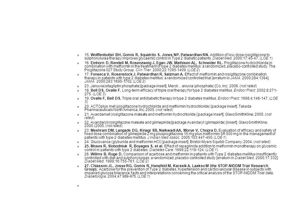 15. Wolffenbuttel BH, Gomis R, Squatrito S, Jones NP, Patwardhan RN