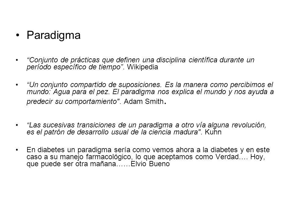 Paradigma Conjunto de prácticas que definen una disciplina científica durante un período específico de tiempo . Wikipedia.