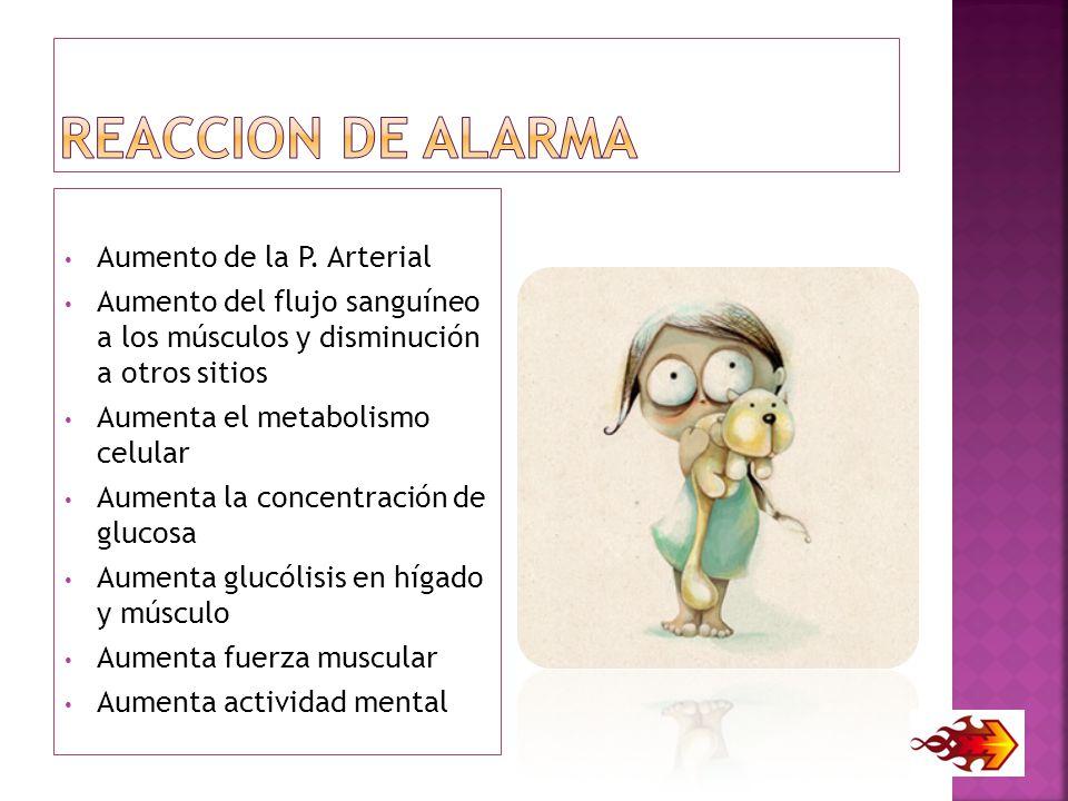REACCION DE ALARMA Aumento de la P. Arterial