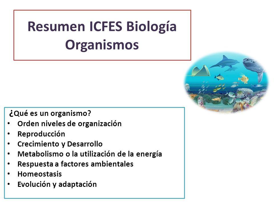 Resumen ICFES Biología Organismos