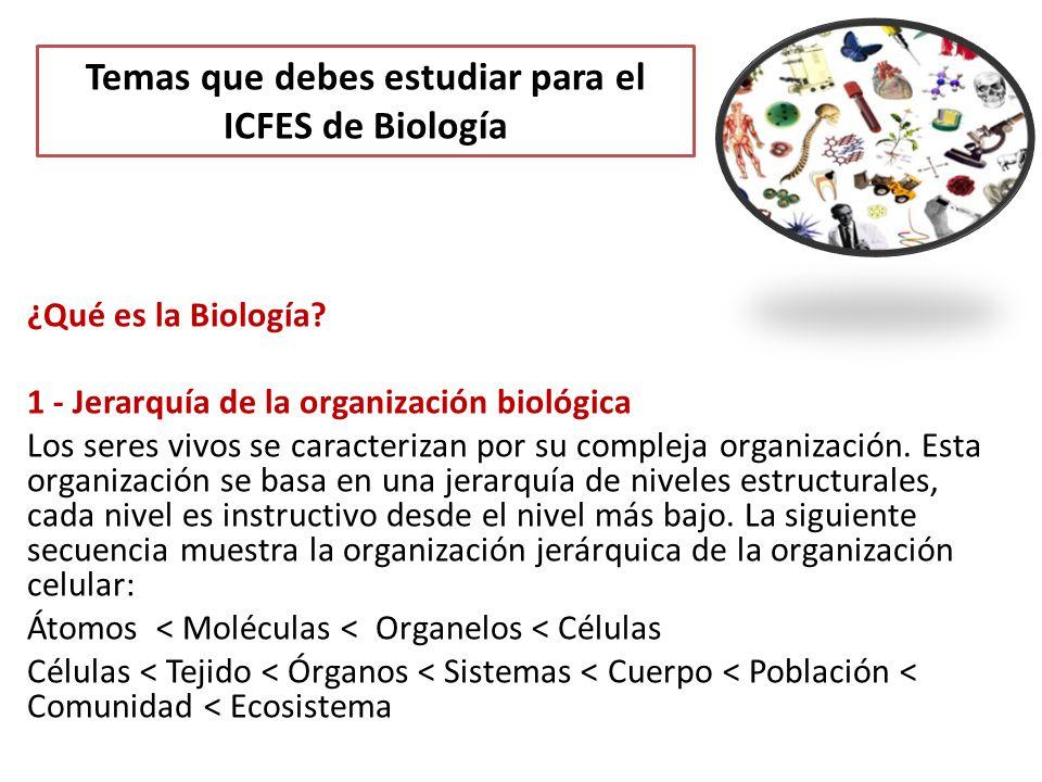 Temas que debes estudiar para el ICFES de Biología