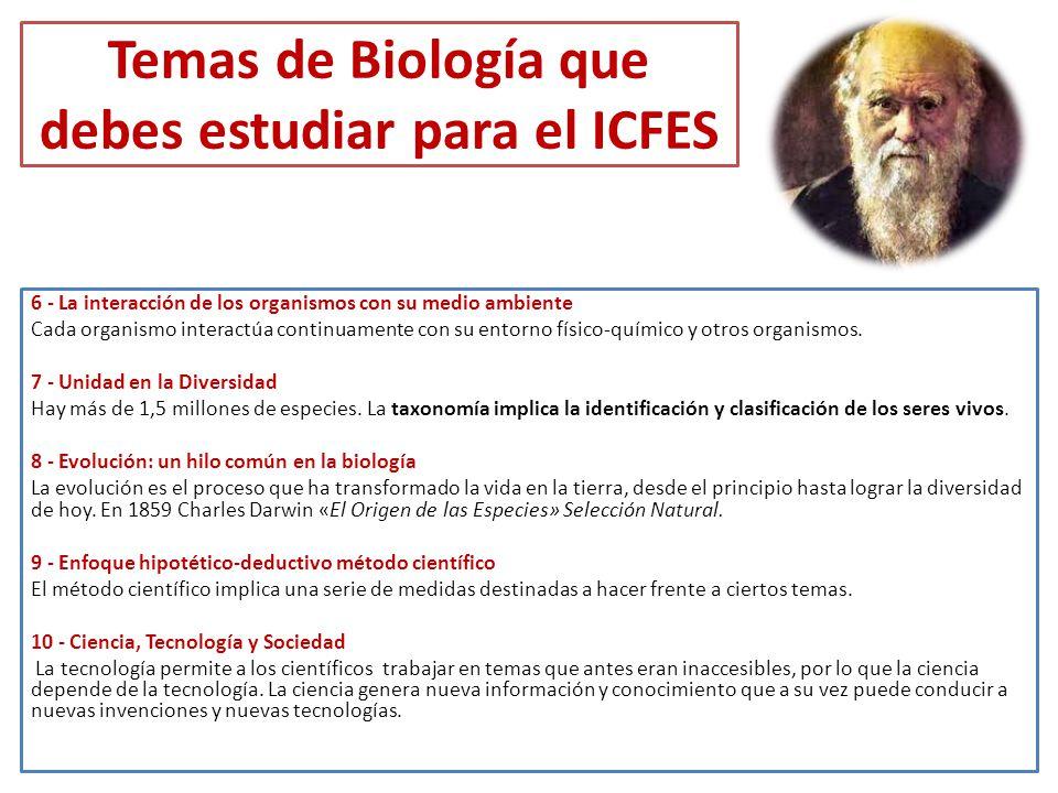 Temas de Biología que debes estudiar para el ICFES