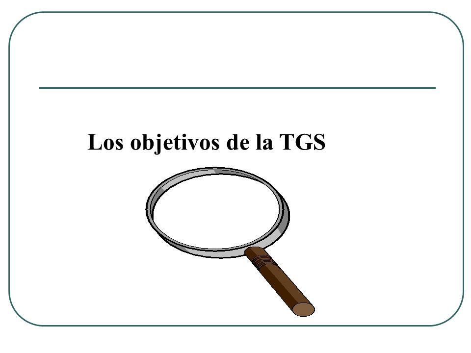 Los objetivos de la TGS