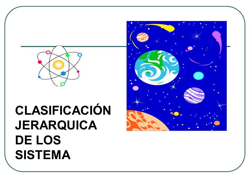 CLASIFICACIÓN JERARQUICA DE LOS SISTEMA