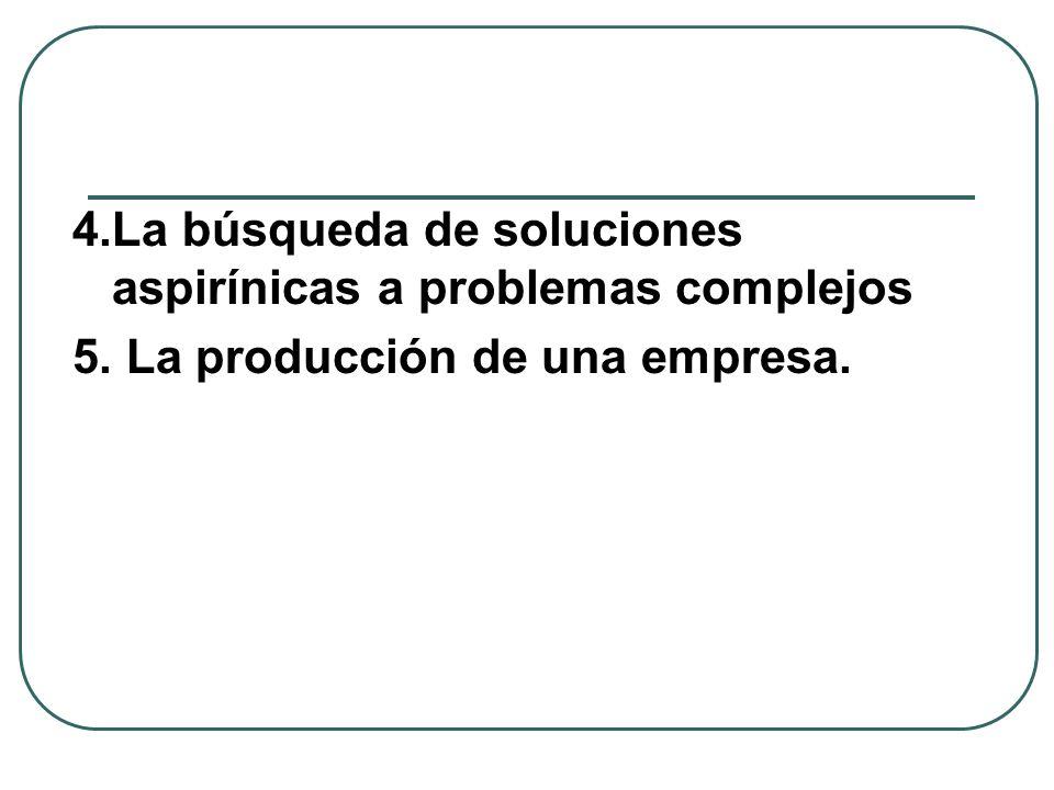 4.La búsqueda de soluciones aspirínicas a problemas complejos