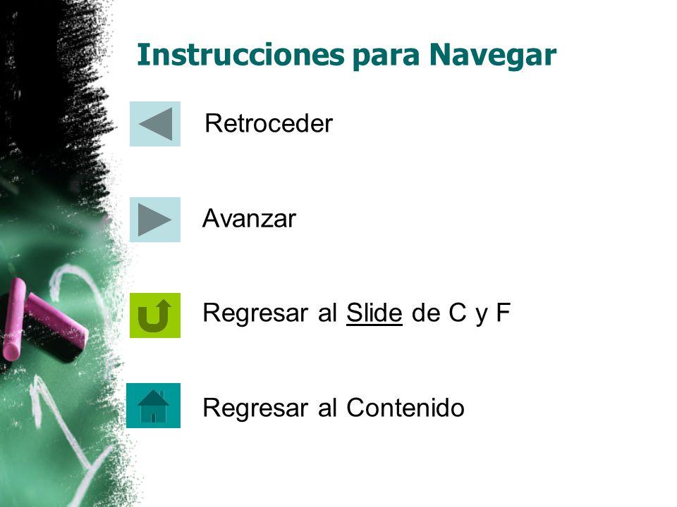 Instrucciones para Navegar