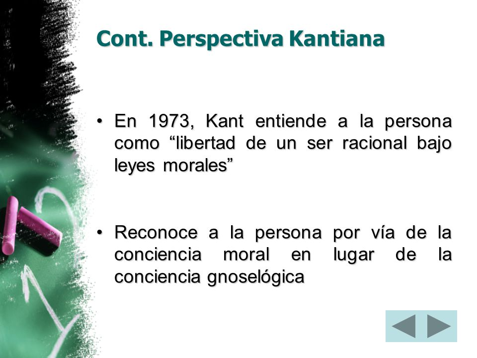 Cont. Perspectiva Kantiana