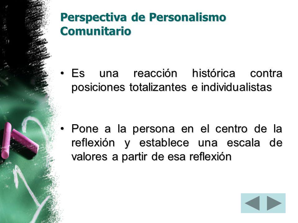 Perspectiva de Personalismo Comunitario