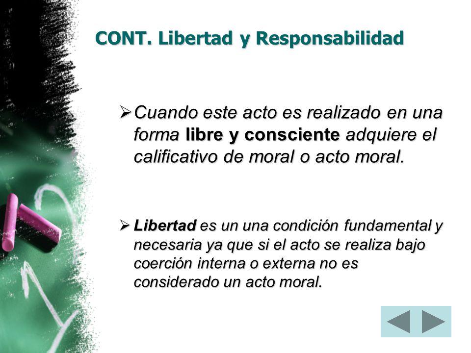CONT. Libertad y Responsabilidad