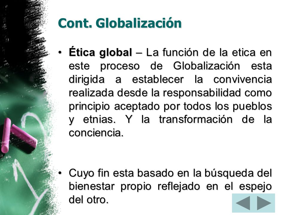 Cont. Globalización